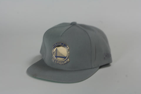 Warriors 2tone logo grey Snapback - HatsbyWill  - 1
