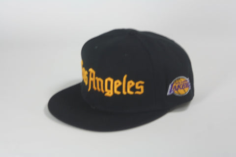 Lakers City Name Snapback - HatsbyWill  - 1