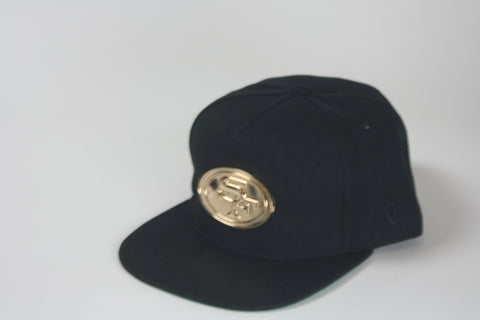 San fran gold logo all black Snapback - HatsbyWill  - 1