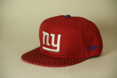 New York Giants Red honeycomb brim Snapback