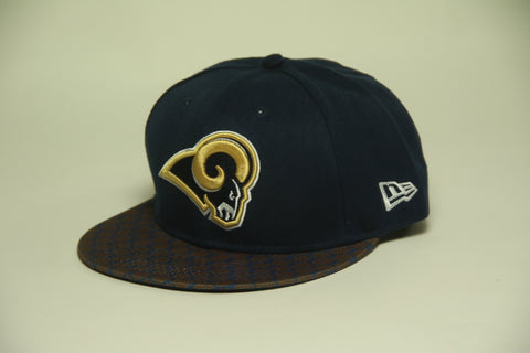 Rams blue honeycomb brim Snapback