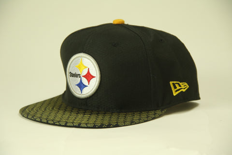 Steelers yellow honeycomb brim Snapback