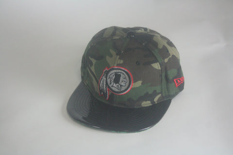 Redskins Camo Patent lether brim SnapBack - HatsbyWill  - 1