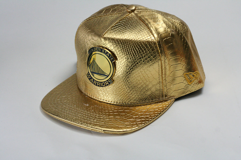 Golden State gold blue logo All Gold Snapback - HatsbyWill - 1 fb45cb888cf