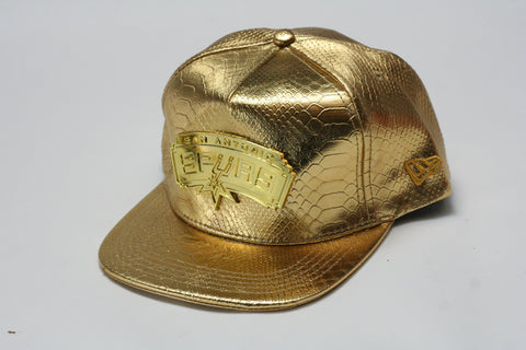 Spurs gold logo All Gold Snapback - HatsbyWill  - 1