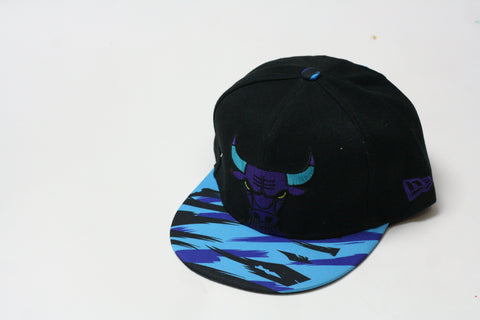 Bulls Blue/purple waves brim snapback - HatsbyWill  - 1
