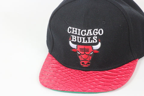 Bulls black with red brim Snapback - HatsbyWill  - 1