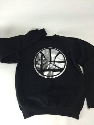 Golden state silver/blk crewneck - HatsbyWill  - 1