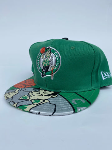 Boston green logo brim snapback