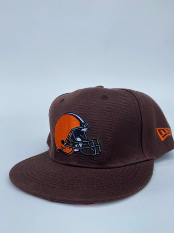 Browns full helmet snapback