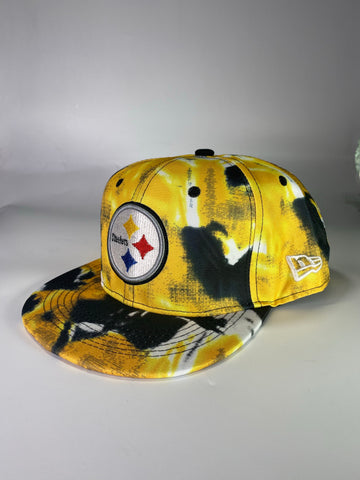 Steelers yellow tye die snapback