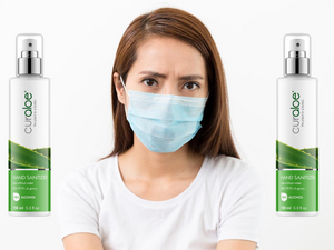 Hygiene package 2x sanitizer and 50 medical masks - Curaloe Europe