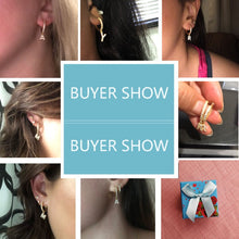 Load image into Gallery viewer, Crystal Initial Earrings - Sateur Allure