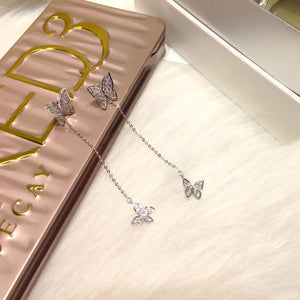 Butterfly Crystal Earrings - Sateur Allure