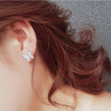 Load image into Gallery viewer, Butterfly Crystal Earrings - Lussuro