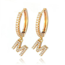 Load image into Gallery viewer, Crystal Initial Earrings - Lussuro