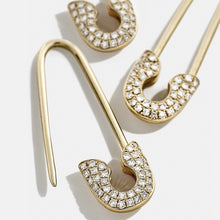 Load image into Gallery viewer, Safety Pin Studs Earrings - Sateur Allure