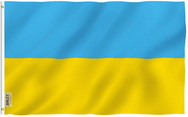 Ukraine Flag - Vivid Color and UV Fade Resistant - Country Double Stitched 3 X 5 Ft
