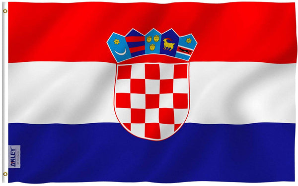 Croatia Flag - Vivid Color and UV Fade Resistant - Country Double Stitched 3 X 5 Ft