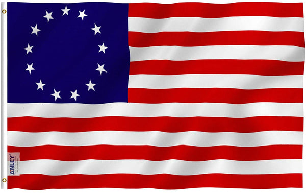 Betsy Ross Flag - Vivid Color and UV Fade Resistant - Double Stitched 3 X 5 Ft