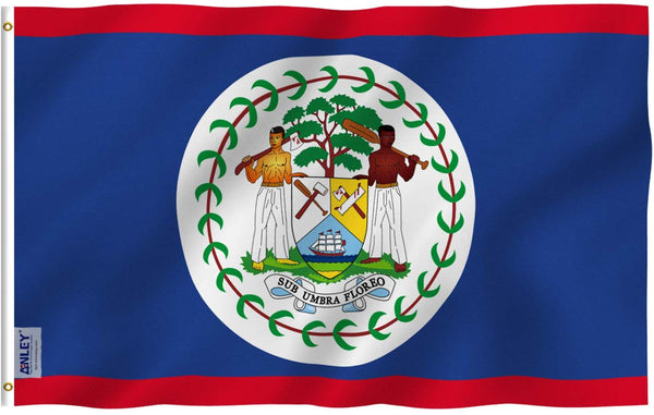 Belize Flag - Vivid Color and UV Fade Resistant - Country Double Stitched 3 X 5 Ft