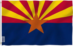 Arizona State Polyester Flag - Vivid Color and UV Fade Resistant - Double Stitched 3 X 5 Ft