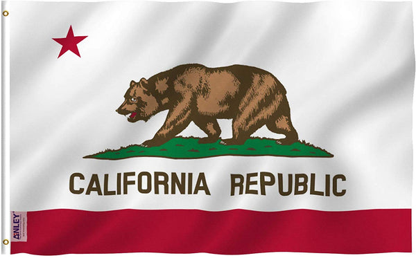 California State Flag - Vivid Color and UV Fade Resistant - Double Stitched 3 X 5 Ft