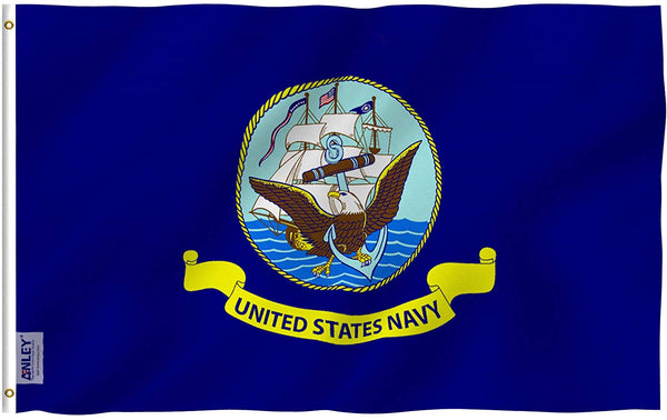 US Navy Flag - Vivid Color and UV Fade Resistant - Double Stitched 3 X 5 Ft