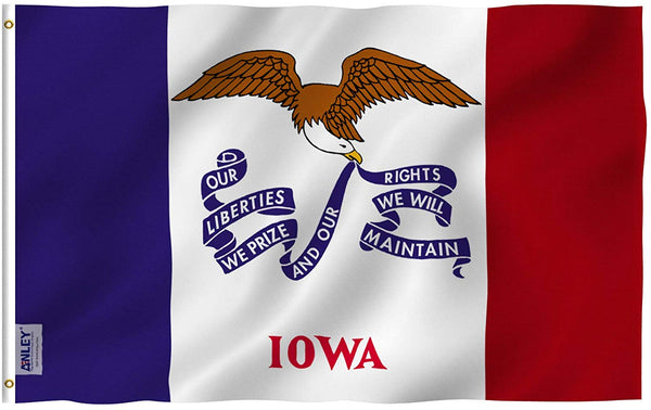 Iowa State Flag - Vivid Color and UV Fade Resistant - Double Stitched 3 X 5 Ft
