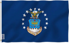 US Air Force Flag - Vivid Color and UV Fade Resistant - Double Stitched 3 X 5 Ft