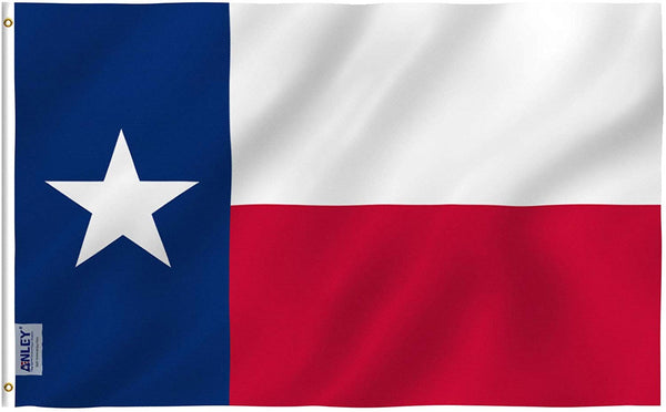 Texas State Flag - Vivid Color and UV Fade Resistant - Double Stitched 3 X 5 Ft
