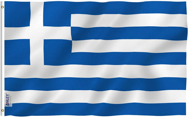 Greece Flag - Vivid Color and UV Fade Resistant - Country Double Stitched 3 X 5 Ft