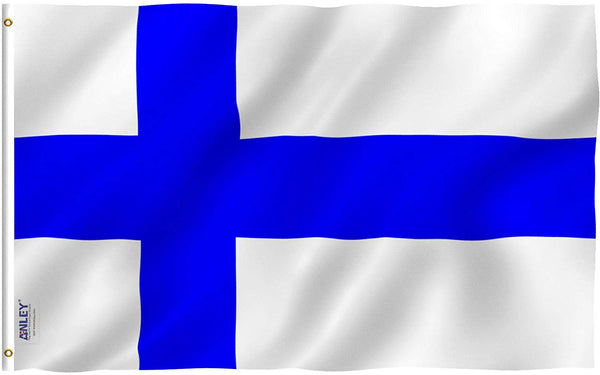 Finland Flag - Vivid Color and UV Fade Resistant - Country Double Stitched 3 X 5 Ft