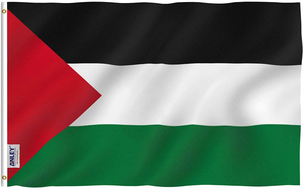 Palestine Flag - Vivid Color and UV Fade Resistant - Country Double Stitched 3 X 5 Ft