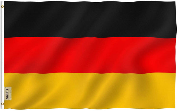 Germany Flag - Vivid Color and UV Fade Resistant - Country Double Stitched 3 X 5 Ft