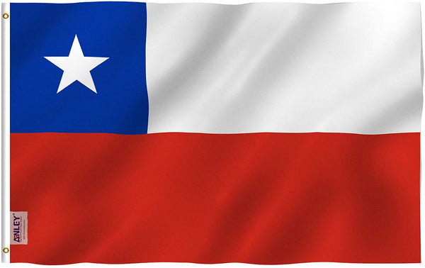 Chile Flag - Vivid Color and UV Fade Resistant - Country Double Stitched 3 X 5 Ft