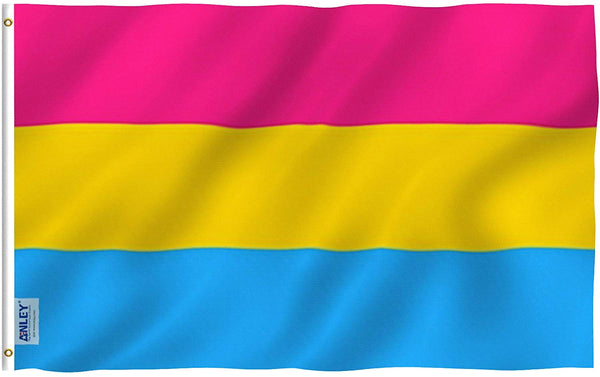 Pansexual Pride Flag - Vivid Color and UV Fade Resistant - Double Stitched 3 X 5 Ft