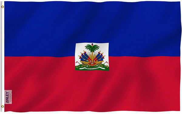 Haiti Flag - Vivid Color and UV Fade Resistant - Country Double Stitched 3 X 5 Ft