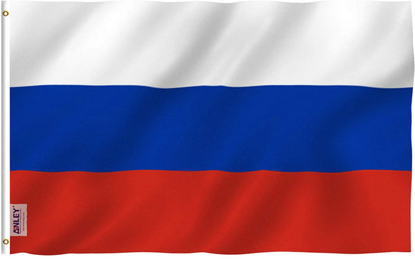 Russia Flag - Vivid Color and UV Fade Resistant - Country Double Stitched 3 X 5 Ft