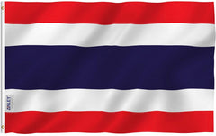 Thailand Flag - Vivid Color and UV Fade Resistant - Country Double Stitched 3 X 5 Ft