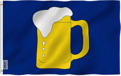 Beer Mug Flag - Vivid Color and UV Fade Resistant - Double Stitched 3 X 5 Ft