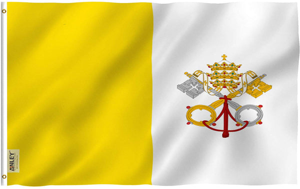 Vatican Flag - Vivid Color and UV Fade Resistant - Country Double Stitched 3 X 5 Ft