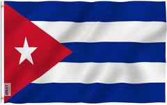 Cuba Flag - Vivid Color and UV Fade Resistant - Country Double Stitched 3 X 5 Ft