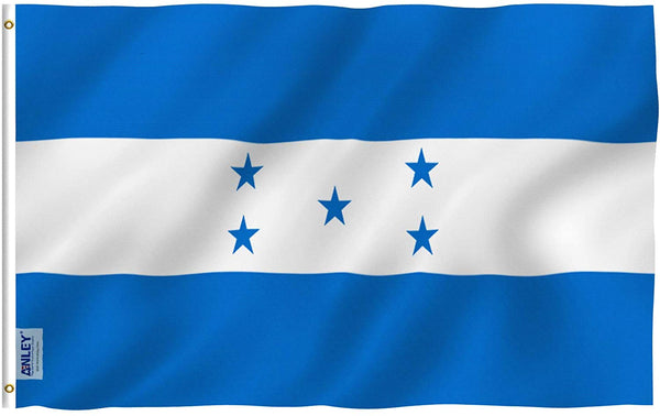 Honduras Flag - Vivid Color and UV Fade Resistant - Country Double Stitched 3 X 5 Ft