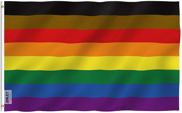 Rainbow Flag 6 Stripes - Vivid Color and UV Fade Resistant - Double Stitched 3 X 5 Ft