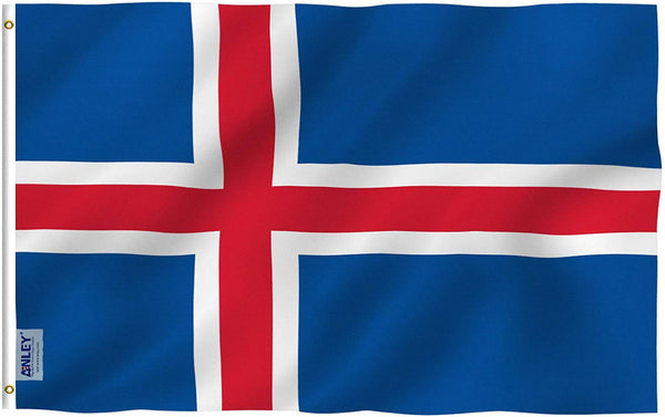Iceland Flag - Vivid Color and UV Fade Resistant - Country Double Stitched 3 X 5 Ft