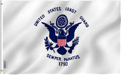 US Coast Guard Flag - Vivid Color and UV Fade Resistant - Double Stitched 3 X 5 Ft