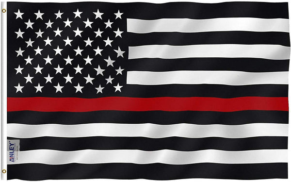 Thin Red Line USA Polyester Flag - Vivid Color and UV Fade Resistant - Double Stitched 3 X 5 Ft