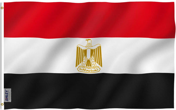 Egypt Flag - Vivid Color and UV Fade Resistant - Country Double Stitched 3 X 5 Ft