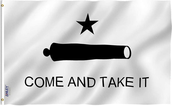 Come and Take It Flag - Vivid Color and UV Fade Resistant - Double Stitched  3 X 5 Ft